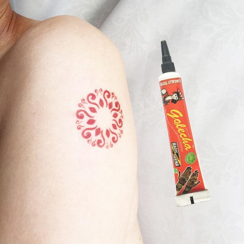 Black Henna Tattoo Paste: Colored Black Brown Henna Tattoo Paste Tube,Temporary