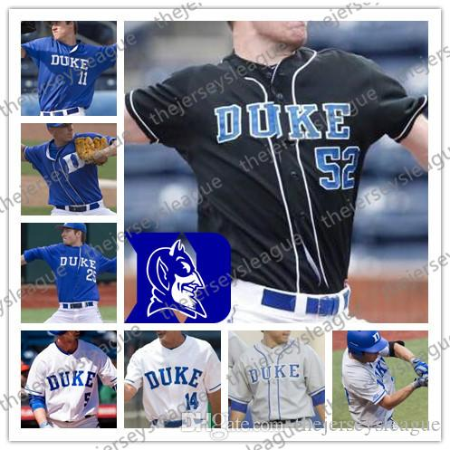 best loved fc6aa 593a6 Duke Blue Devils Custom Any Number Any Name White Blue Black Gray Good  Quality Stitched #2 Zack Kone NCAA College Baseball Jerseys