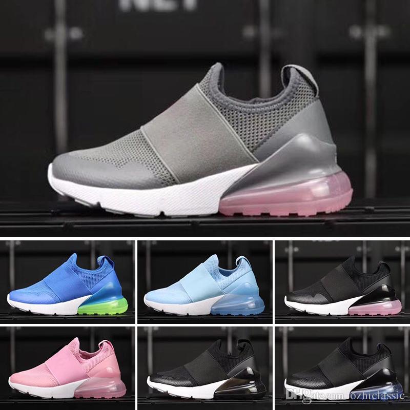 7d2d31cf70097 Acheter Nike Air Max 27c Vente En Gros 2018 Infant 270 Enfants Chaussures  De Course Noir Blanc Dusty Cactus 27c Plein Air Athlétique Garçon Et Fille  ...