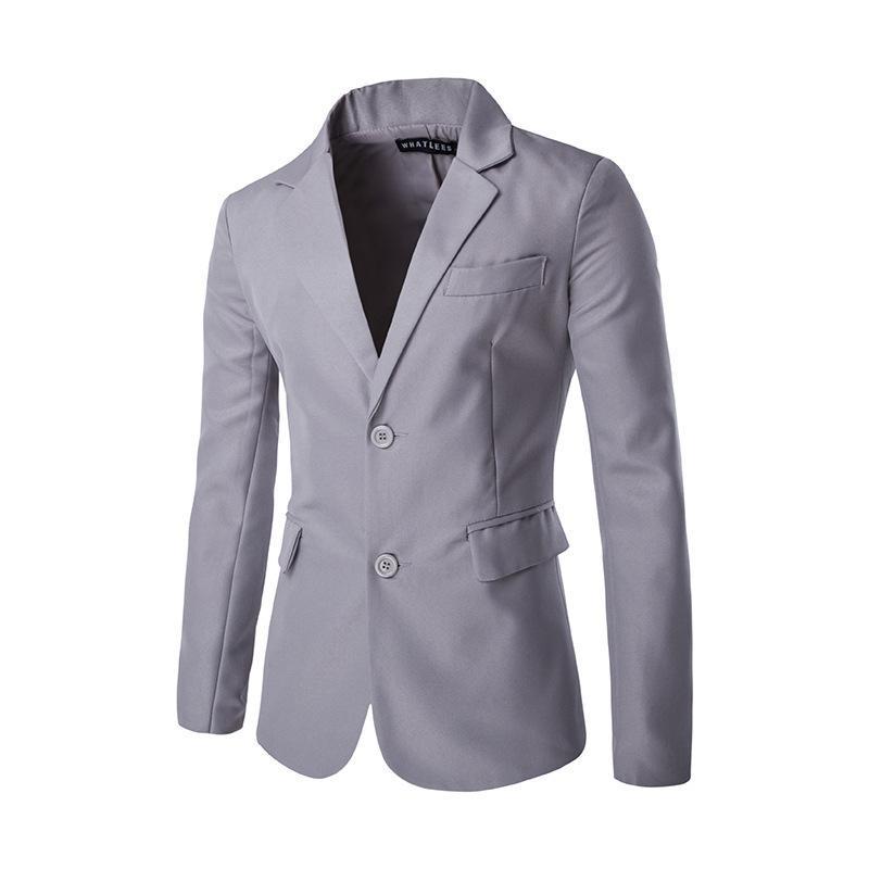 b1b20417b1c27 2019 Hot Sale New Arrival Fashion Blazer Mens Casual Jacket Solid Color  Cotton Men Blazer Jacket Men Classic Mens Suit Jackets Coats From  Qingchung, ...
