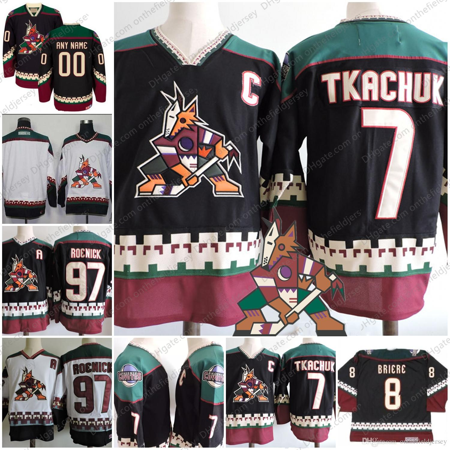 spain nicest vintage jersey hfboards 65223 b7b80  clearance 2019 custom arizona  phoenix coyotes vintage hockey jerseys 97 jeremy roenick 7 keith tkachuk ... 3ee697dbb