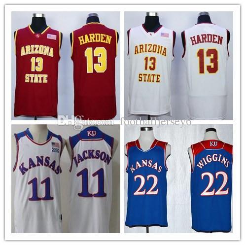 ac5681813 Men NCAA Arizona State Sun Devils James Harden College Basketball ...