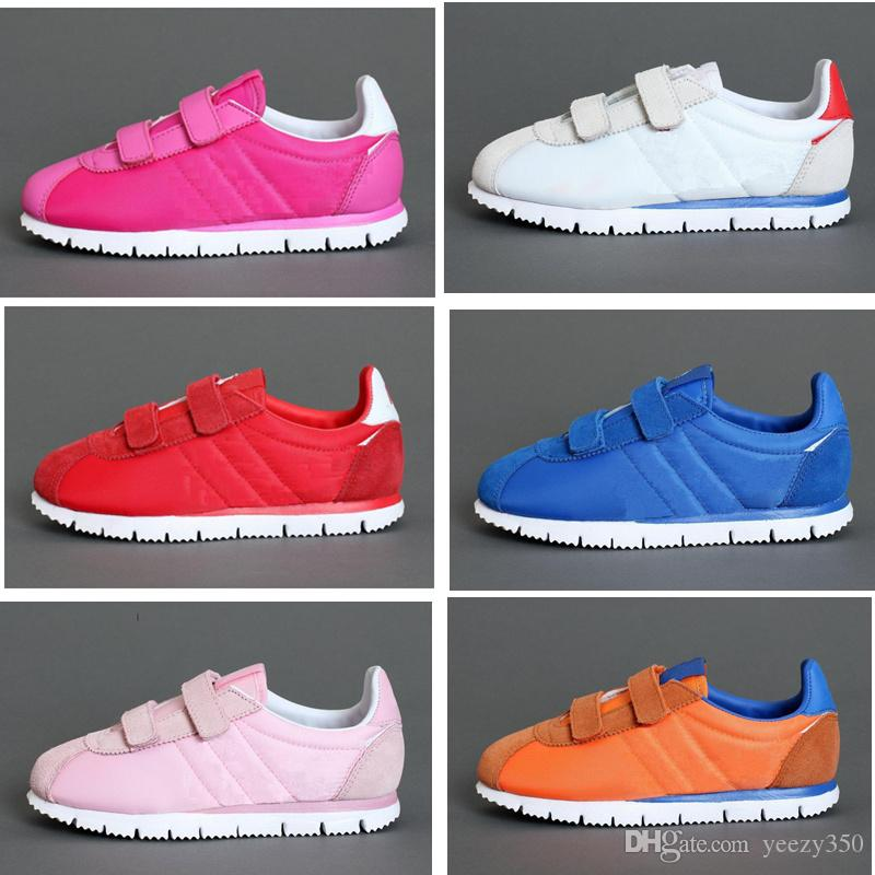 finest selection 3c2d7 d12ed Cortez Kids Running Shoes New Born Baby Sneakers Black Pink Blue Infant  Runs Children Sports Shoes Small   Big Kid Toddler Trainers Toddler Boys  Tennis ...