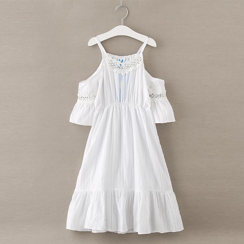 Hurave 2017 VERANO nuevo vestido de las muchachas lindas ropa de la muchacha ropa de los niños con cuello en v vestidos de verano vestidos
