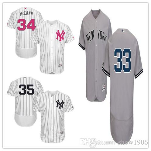 2018 Custom Men S Women Youth Yankees Jersey  33 Greg Bird 34 Brian Mccann  35 Michael Pineda Home White Gray Blue Kids Girls Baseball Jerseys From  Show1906 85f52de6d86
