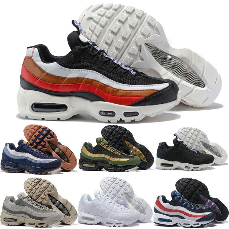 outlet store b9070 0e2f1 Acheter Nike Air Max Airmax 95 Remise 2018 Ultra 20ème Anniversaire 95  Hommes Chaussures De Course 95 S Hommes Baskets Tennis Zapatos Sneakers  Taille 7 12 ...