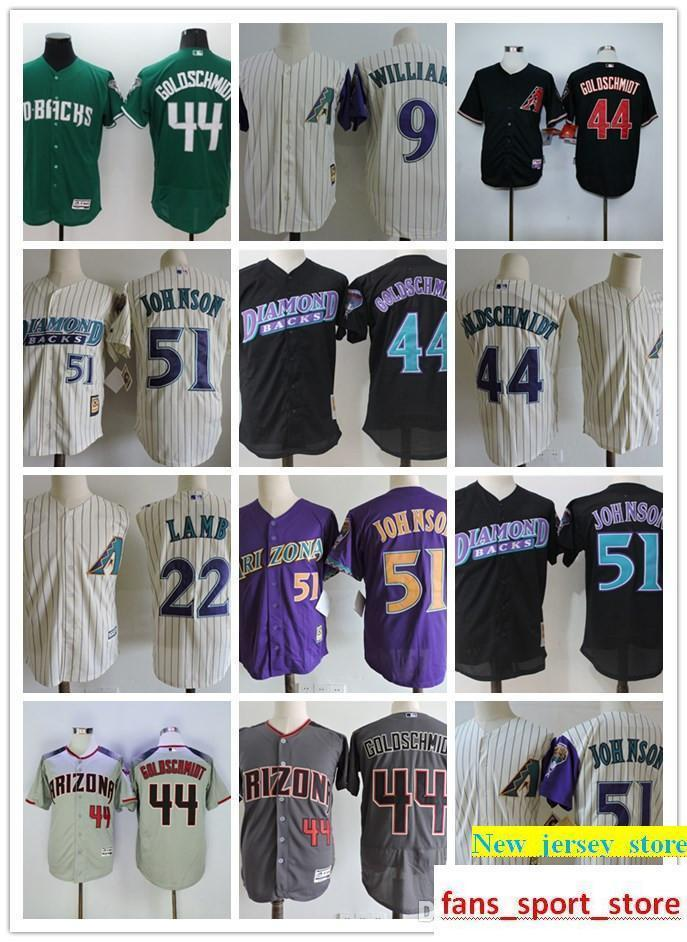 2019 2019 Men S Arizona 44 Paul Goldschmidt 51 Randy Johnson 100% Stitched  Baseball Jersey Men Retro Base Ball Jerseys Red Gray White From  New jersey store 1d274dbdc
