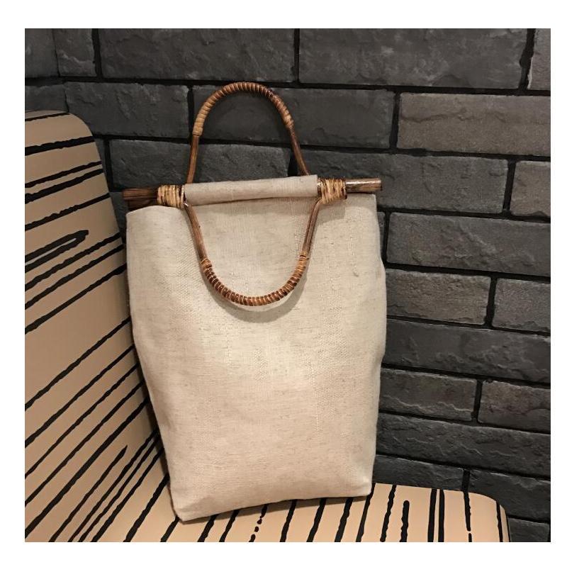 797d0240c85d Women Vintage Bamboo Bag Cotton Linen Handbag Ladies Beautiful Handmade Bag  Original Design Fashion Beige Luxury Handbags Handbags Brands From  Chingkee