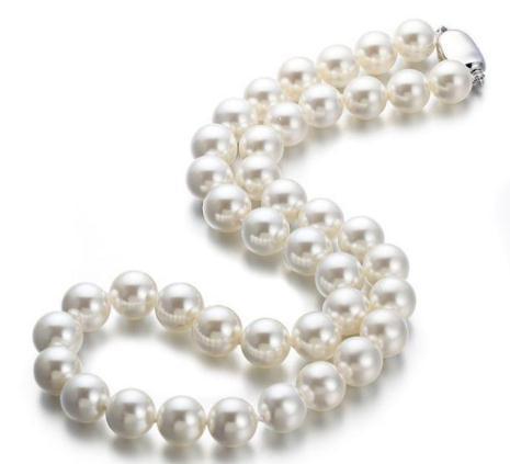 0262a9a457b5 Compre 18 Pulgadas Natural AAA 10 11mm Mar Del Sur Blanco Shell Perla Collar  De Plata 925 Broche A  33.67 Del Xinxin67888
