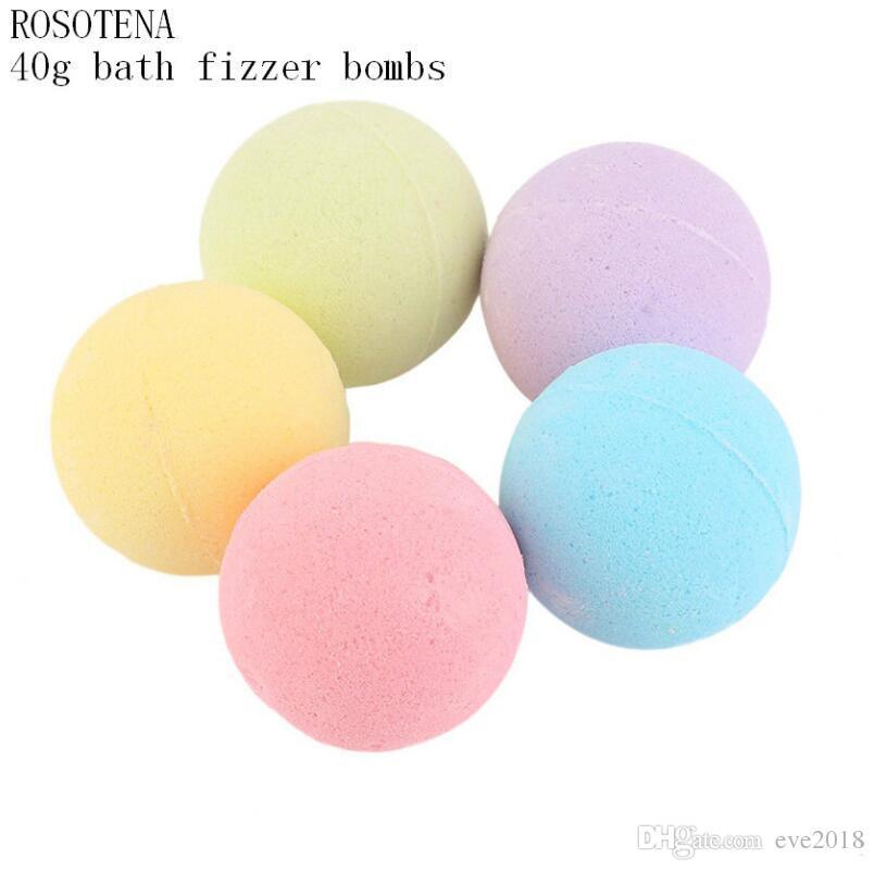 40g Natural Bubble Fizzy Bath Bomb Ball Essential Oil Handmade SPA Bath Salts Ball Bath Tool LX2282