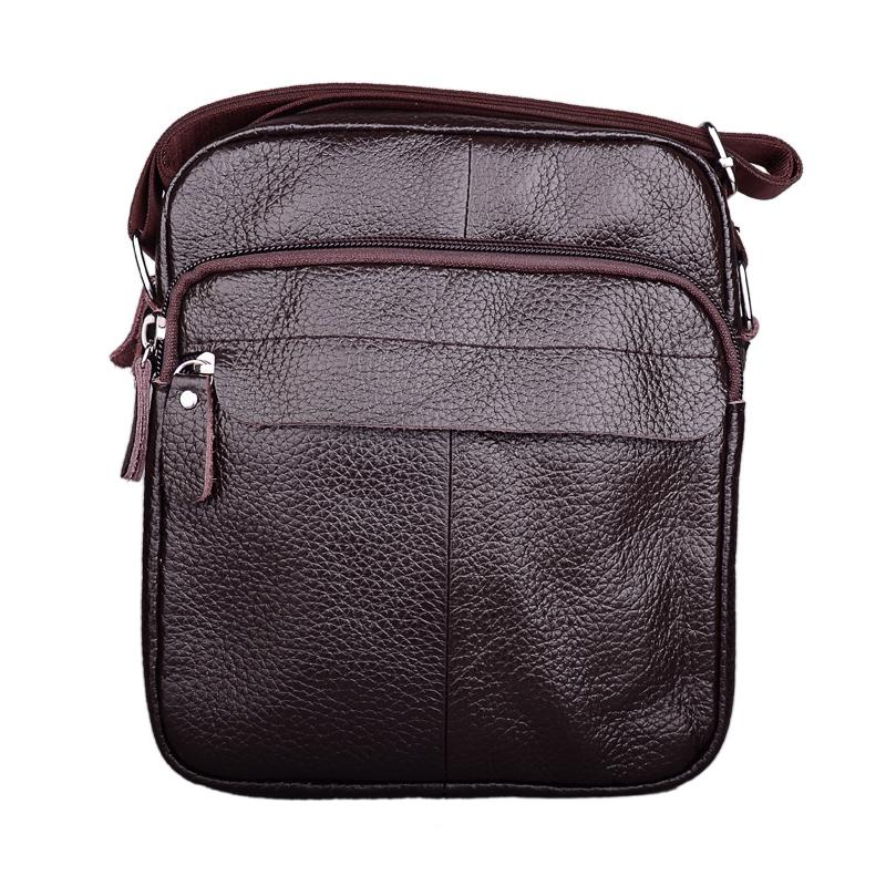 1fe4977944 Genuine Leather Men Bag Fashion Leather Crossbody Bag Shoulder Men  Messenger Bags Small Casual Designer Handbags Man Bags Fashion Bags Leather  Bags For ...