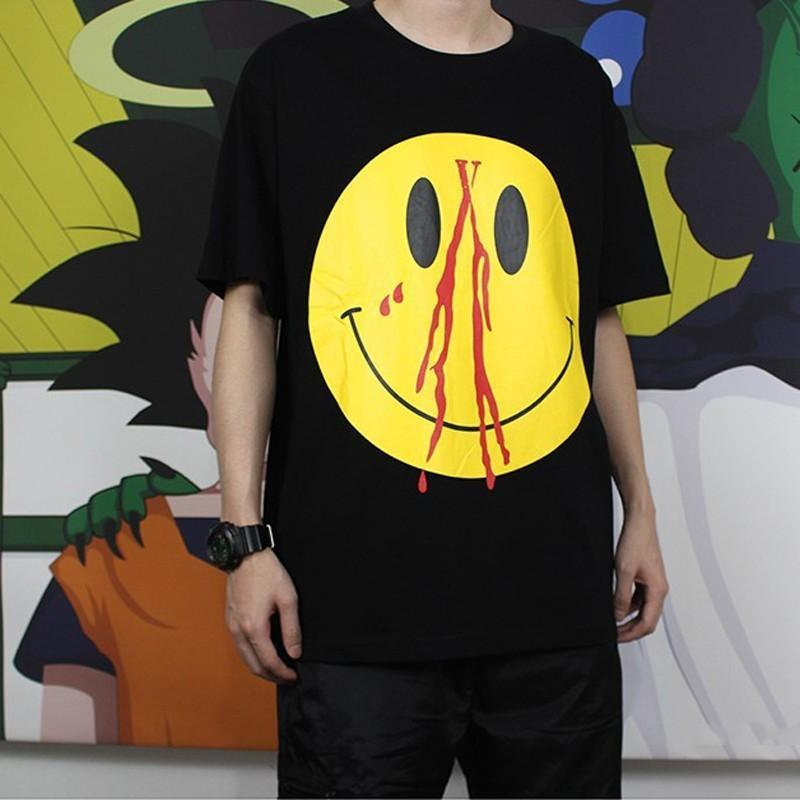 bc2b48991 M 5b2d06bfbaebf6fe7a7340bb Source · VLONE LIFE ASAP Rocky T Shirt Laugh  Face Printed Summer Street