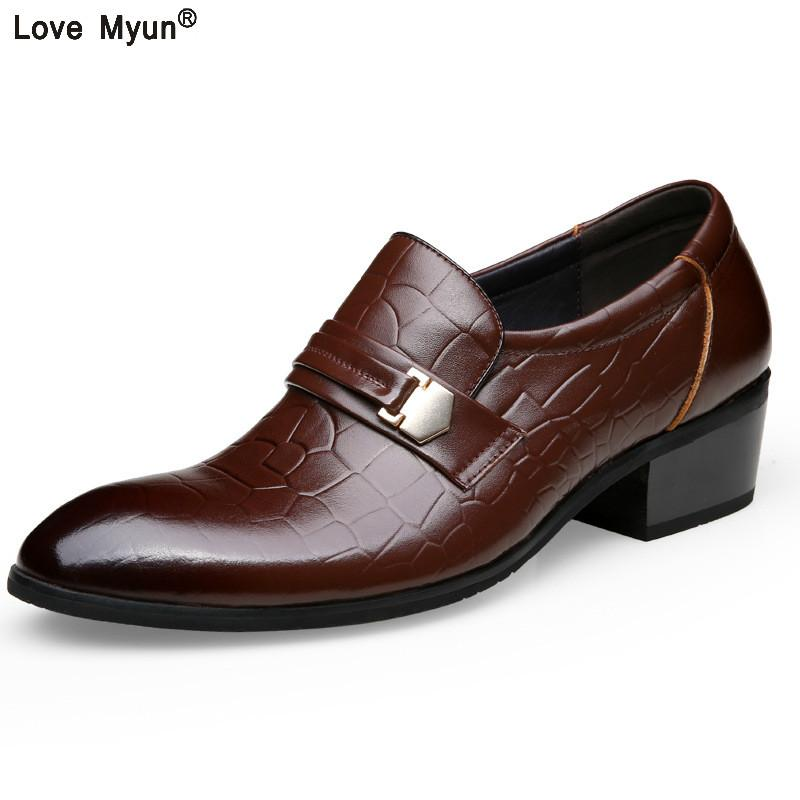 Men Genuine Leather Flat Wedding Shoes Mens Wine Red Black Brogue Business  Casual Party Gentleman Wedding Shoes 88 Casual Shoes For Men Mens Sandals  From ... 50c48027a806