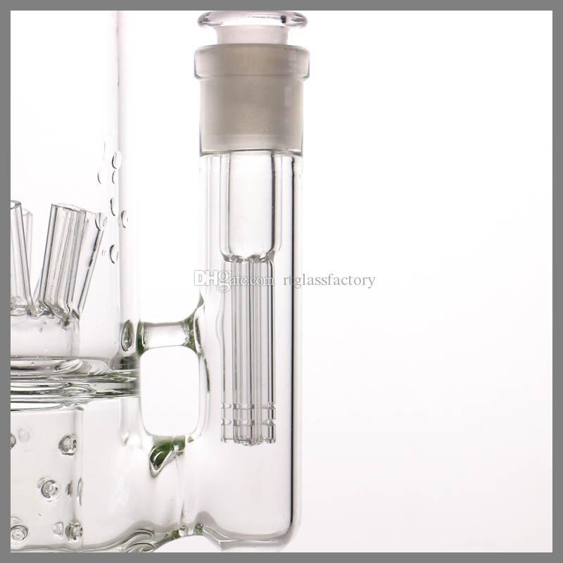 Fabricante G.O.G downstem 14-18 vidrio hembra 5 brazos percolater Lo Pro Diffused Downstem 3 ''