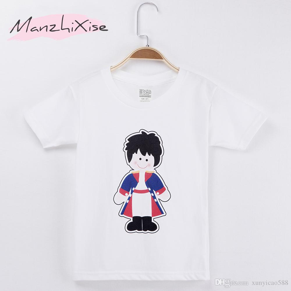 2018 New Children T-shirt Kawaii Prince Cartoon 100% Cotton Child Shirt Boy Short T Shirts For Baby Girl Tops Tee Kids Clothing