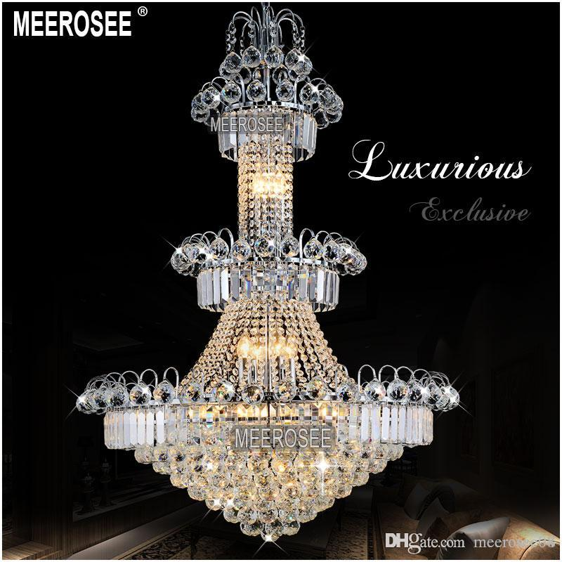 Lights & Lighting Project Large Crystal Chandelier Led Lamparas Sconce Stairway Suspension Lamp Gold Hotel Chandelier E14 Led Lustre Light Fixture Ceiling Lights & Fans