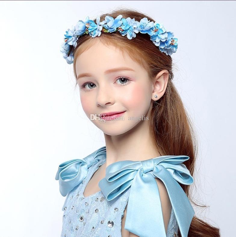 2019 Beautifully Headdress Garland Wedding Bride Bridesmaid Hair  Accessories Cloth Flower Headband Flower Girl Dress Up Flower Headband. 5cccfe58888