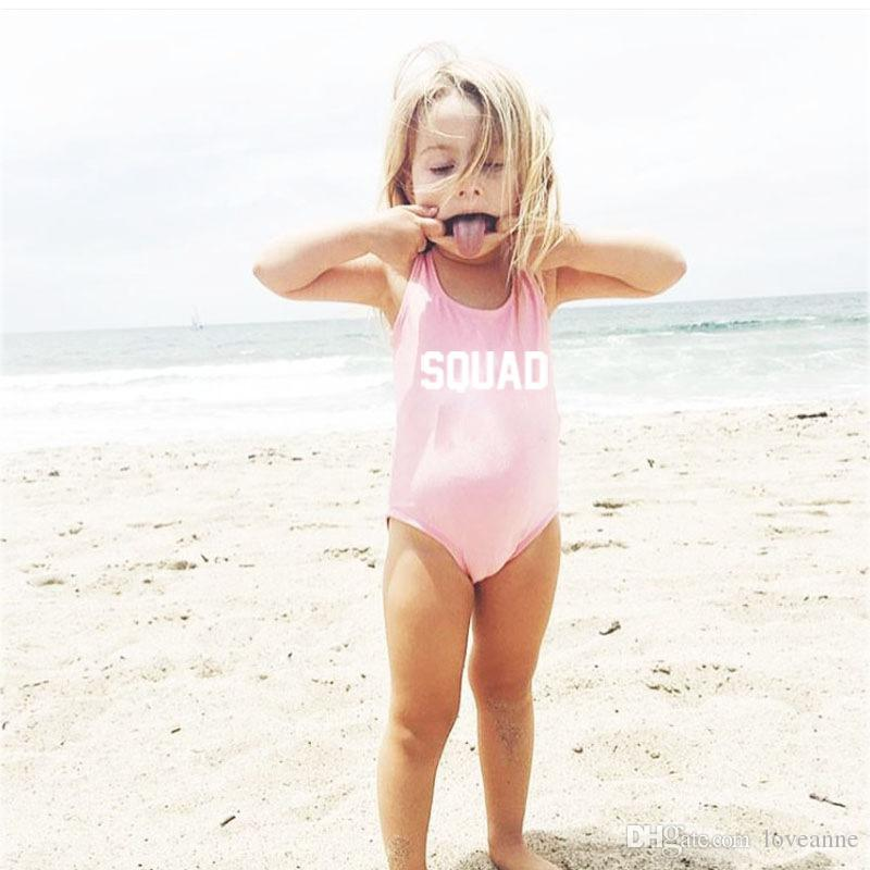 Сексуальная семья Bilkini отряд Письмо печати One Piece купальник пуш-ап бикини Gilrs пляж одежда мать и дочь одежда