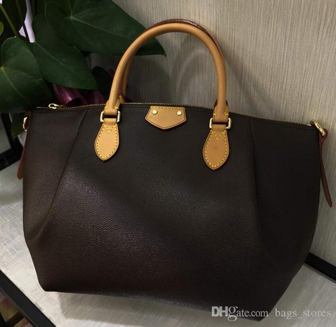 98f790bfe New Women Bag Classic Leather Handbags Brown Bags Brands Lady Designer  Clutch Top Shoulder Bag Totes Size l with wallets online sale