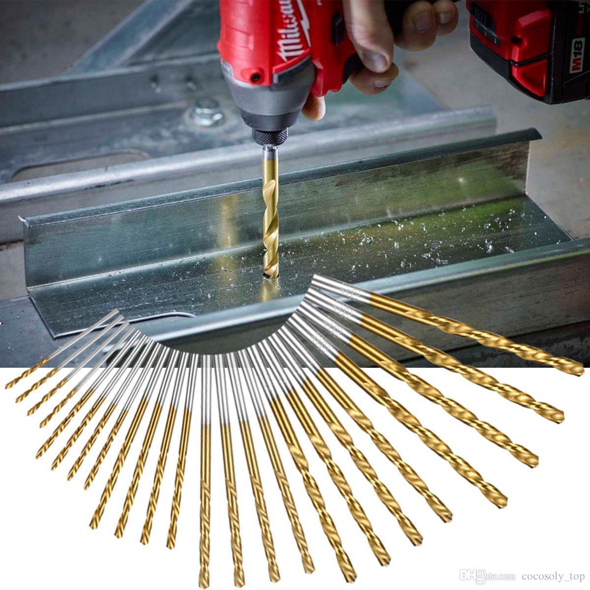 60 adet / takım 1mm-3.5mm Titanyum Kaplı Yüksek Hızlı Çelik Matkap Ucu Manuel Büküm Matkap Uçları Düz Şaft Matkap Tamir Parçaları Aracı
