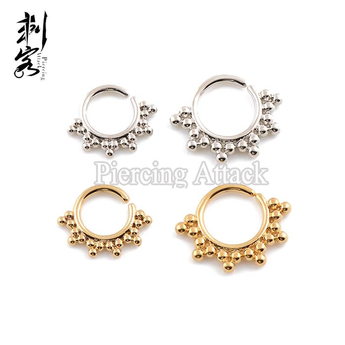 New Arrival Brass Indian Tribal Septum Clicker Indian Septum Piercing Nose Rings