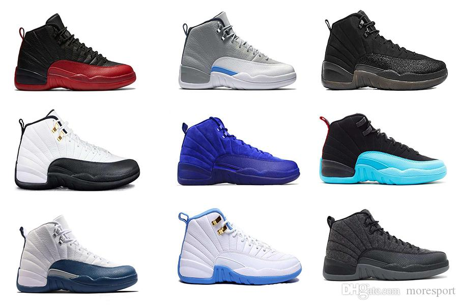 c2f3f4e2f0ca High Quality 12 12s Retro Basketball Shoes Sneakers OVO White Gym Red Dark  Grey Basketball Shoes Taxi Blue Suede Flu Game 12s Shoes 12s Basketball  Shoes .