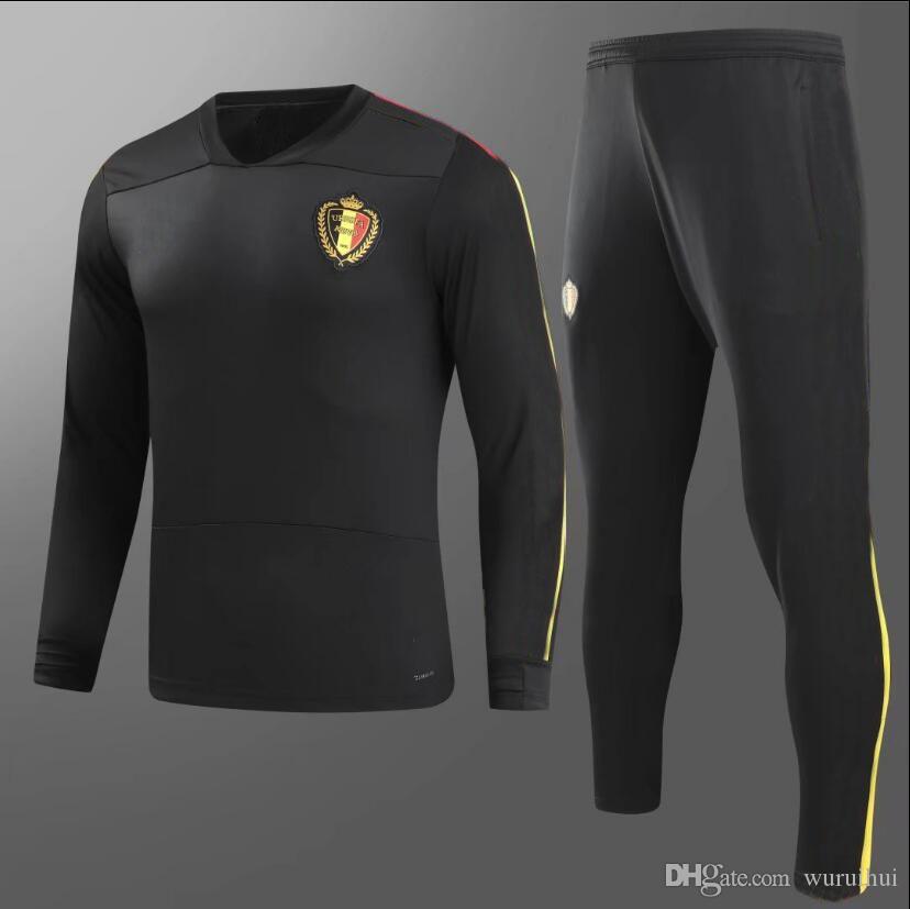 High Quality S-3XL Belgium Training Suit 18 19 FELLAINI E.HAZARD DE ... eed7c4d64