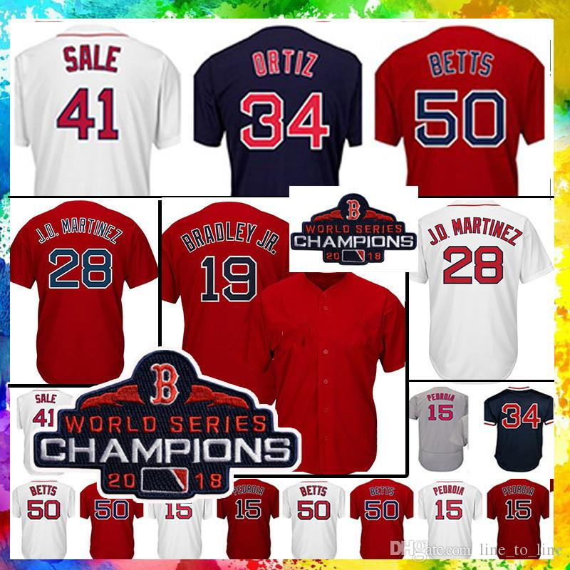 c4c9acf32 Champion Men s 16 Andrew Benintendi 41 Chris Sale 50 Mookie Betts ...
