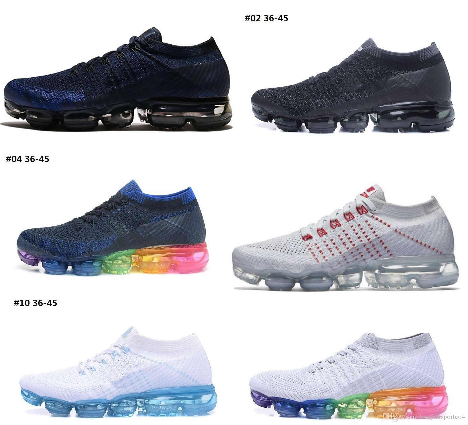 2018 High Qaulity Fashion Vapormaxs Mesh Breathable Running Shoes Men Women Sport Shoes Sneakers For Men popular online discount excellent cheap Inexpensive online Shop 0q8p6Br