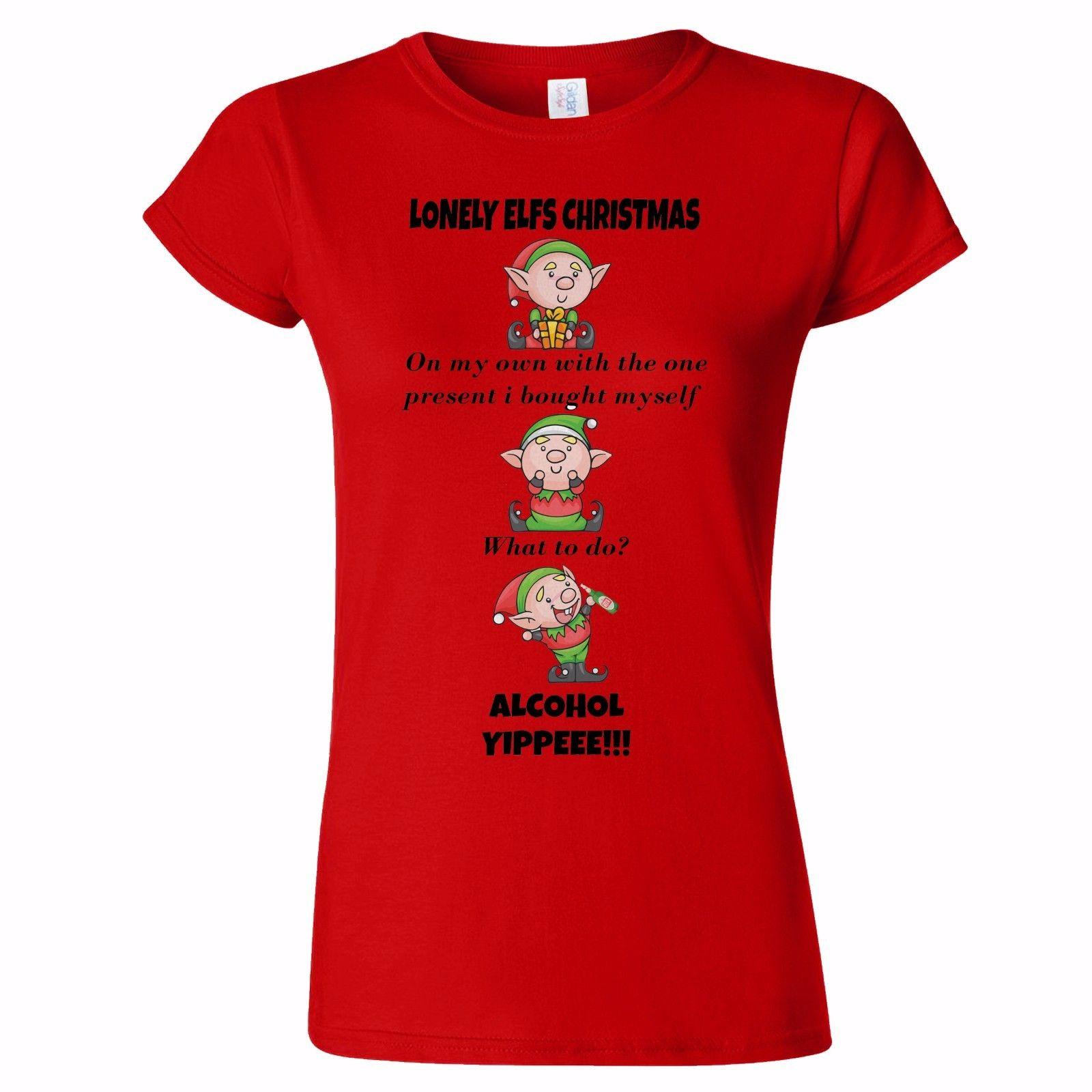 b788ea83 LONELY ELF CHRISTMAS FUNNY WOMENS T SHIRT PRESENT JOKE SANTA XMAS ON YOUR  OWN Daily T Shirts Printable T Shirts From Bangtidyclothing, $10.9|  DHgate.Com