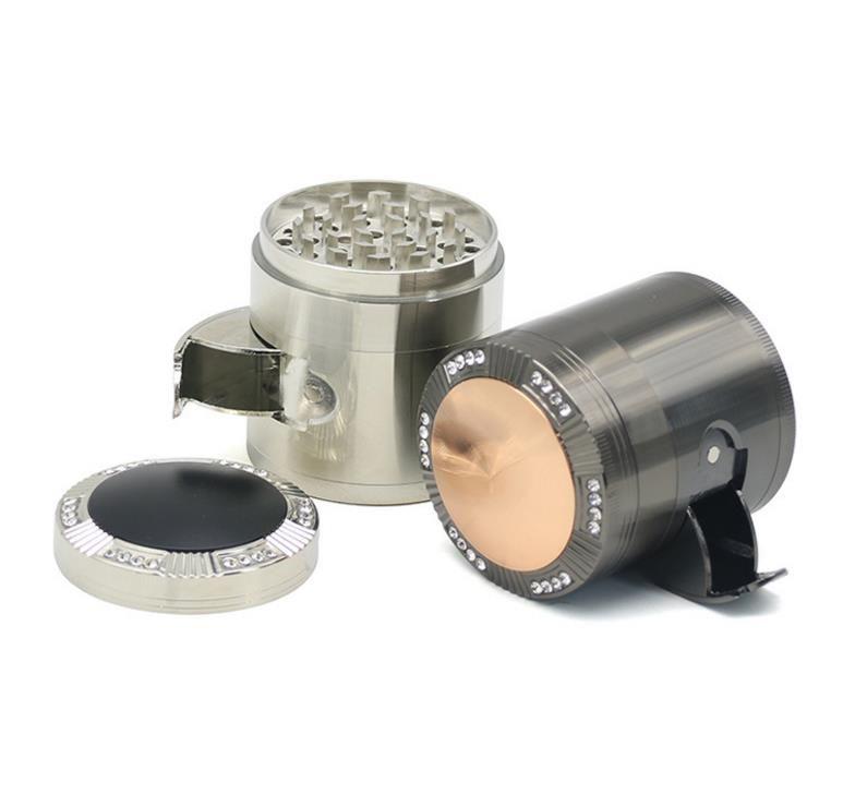 2018 nuevo cuatro niveles de aleación de zinc encendedor de cigarrillos diámetro 52 MM cubierta de cúpula de perforación conjunto de cigarrillos