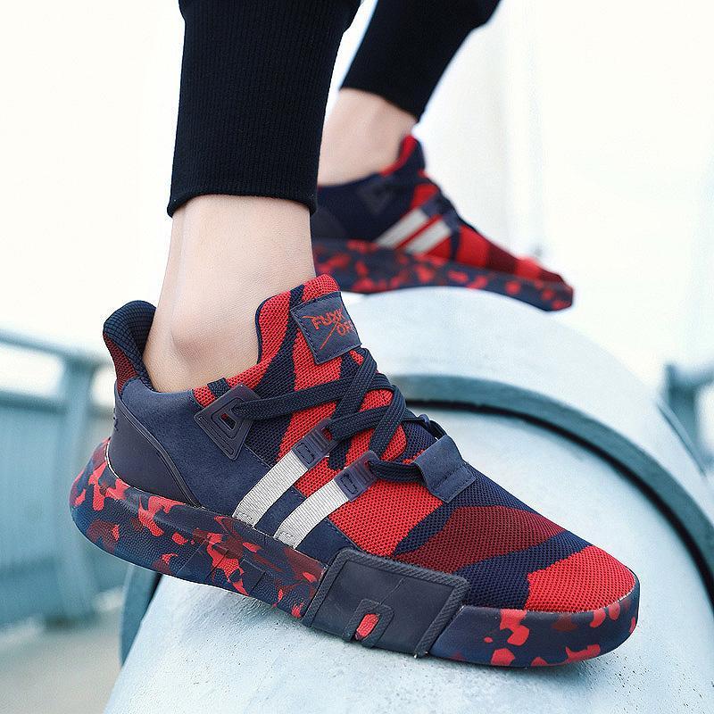 sports shoes 4a491 401a2 ... Nouvelle Inscription Chaussures De Sport En Plein Air Réseau Hommes  Sneakers Spécial Couleur Mixte Semelle En Caoutchouc À Lacets Plat Running  De  35.18 ...