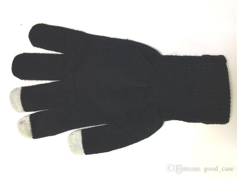 Colourful winter warm touch screen gloves capacitive screen conductive cotton glove Telefingers gloves for cell phones Samsung note 10 2020
