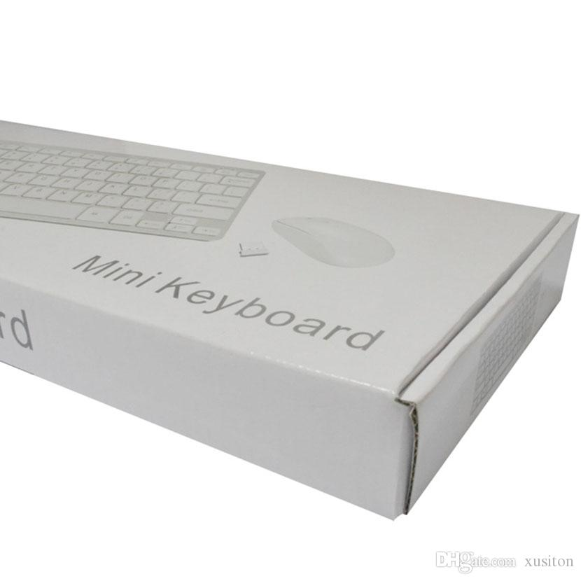 Tastatur-Maus-Set Combos Ultra-Slim 2,4 G-Drahtlose Mini-Tastatur und -Maus Bluetooth USB Universal für Fenster Computer Laptop EXHK33 50 Packs
