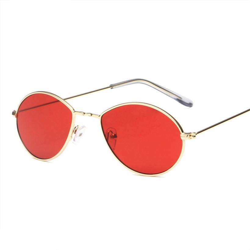 e2364042d Compre NYWOOH Mulheres Do Vintage Óculos De Sol Feminino Pequeno Rodada  Óculos De Sol Armação De Metal Lentes Do Oceano Óculos De Marca Designer  UV400 De ...