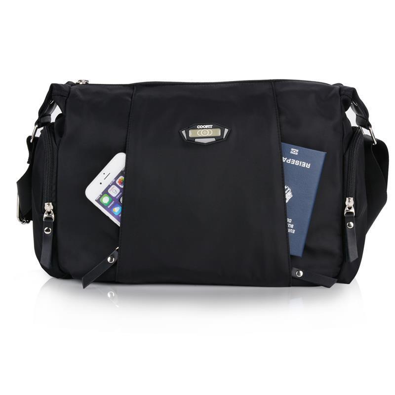 c4c8da6589f6 2018 Casual Black Messenger Bag For Men Women Waterproof Oxford ...