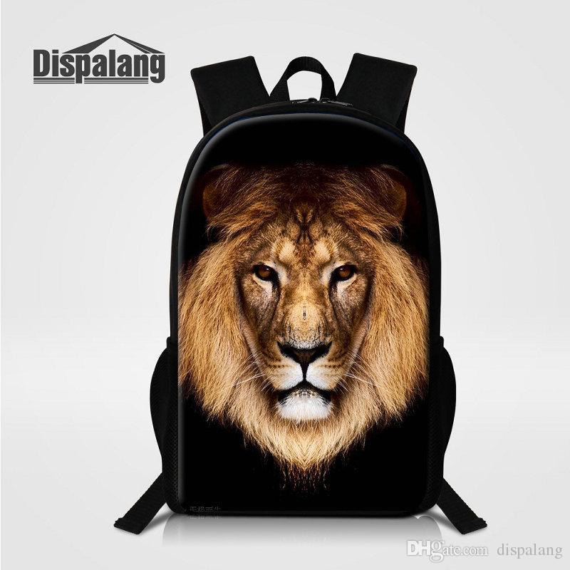 6a4ef483acd4 3D Printing Lion Animal Backpack For Men Children School Bag Backpack Man  Busniess Daypack Brand Bagpack Male Knapsack Cool Bookbag Rucksack Hobo  Bags Kids ...