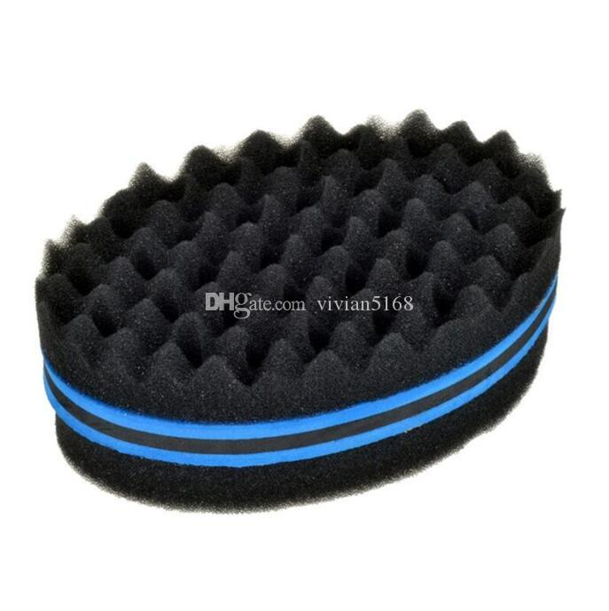 Professional Oval Double Sides Magic Hair Twist Sponge Fir Afro Dreadlocks Curl Brush Coil Waves Twisting Brushes Sponge Hair Braiders Tool