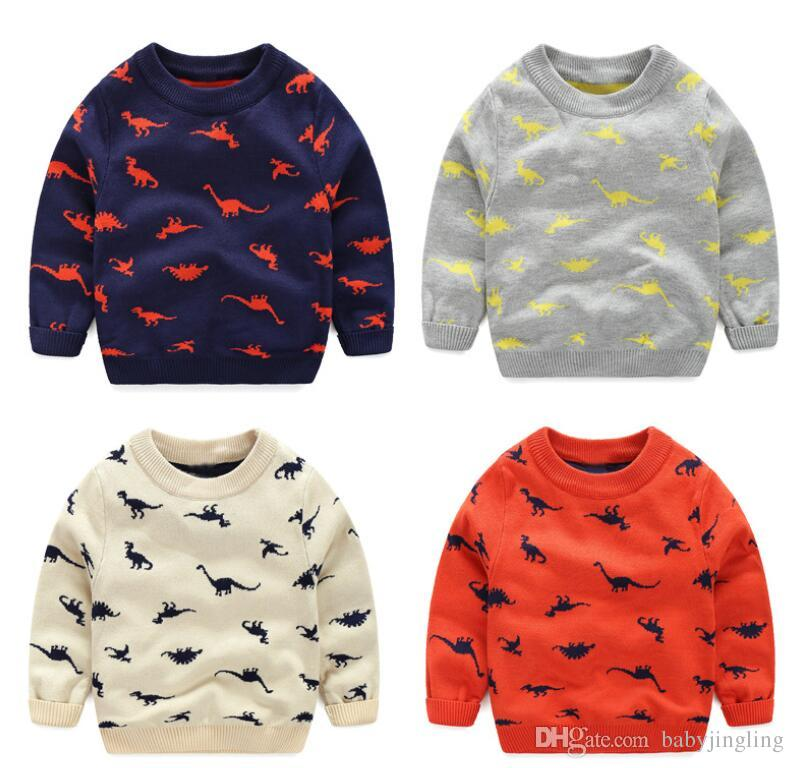 Autumn Winter Knitted Toddler Boy Sweater Casual Spring Cartoon ...
