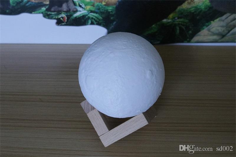 3D Lua Lâmpada de Controle de Toque de Carregamento USB Night Light Home Decor Criativo Presente 8 CM 20 CM de Alta Qualidade 110ak8 C R