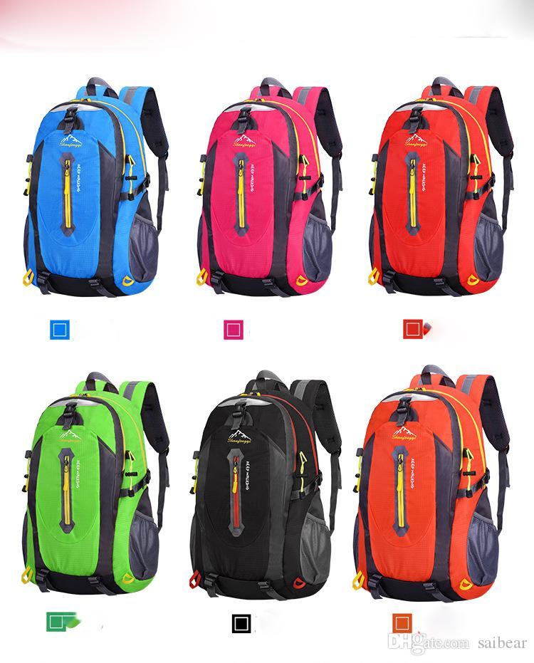 1e2b2c97e859 40L Outdoor Mountaineering Bags Water Repellent Shoulder Bag Men And Women  Travel Hiking Camping Backpack