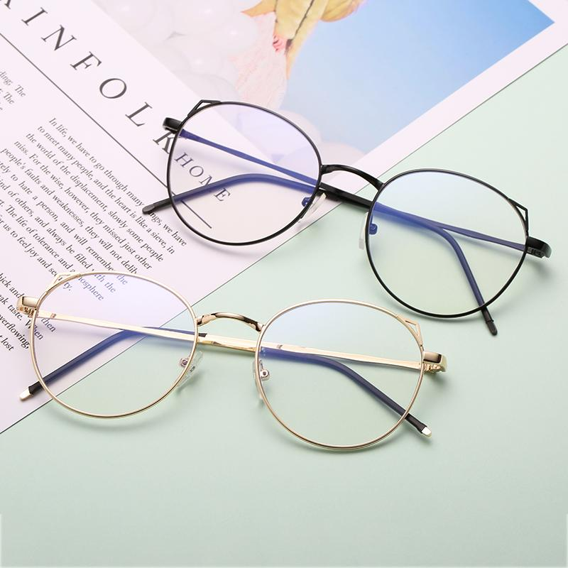 5d2cca799b8 Vintage Round Glasses Frame Female Brand Designer Gafas De Sol Spectacle  Plain Glasses Gafas Eyeglasses Eyewear Eyewear Frames Cheap Eyewear Frames  Vintage ...