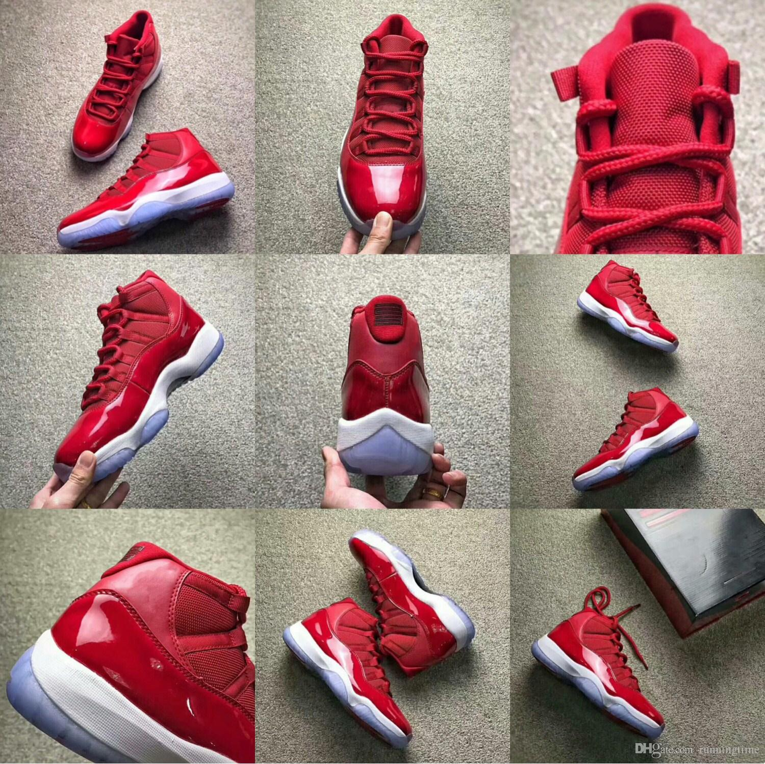 7495a50fd5698b With Box2018 Hot Basketball Shoes 11 Gym Red Chicago Women Men 11s Gym Red  White Athletic Sports Shoes Sneaker Women Shoes Men Shoes Gym Red Basketball  ...