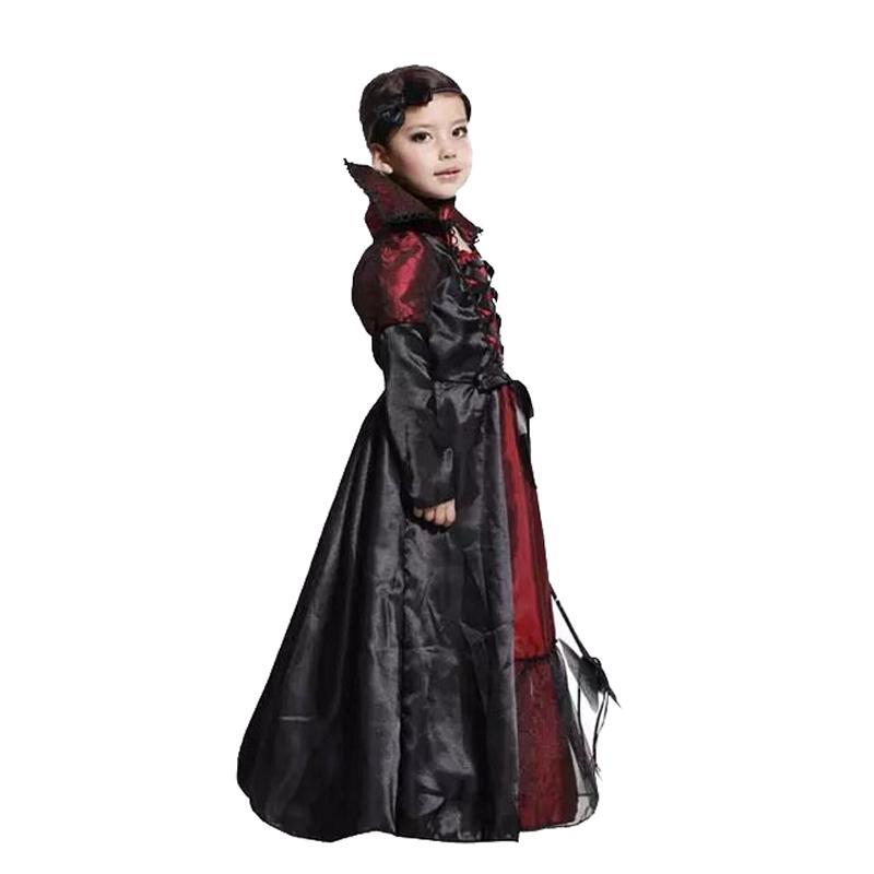 Acquista Costume Da Vampiro Costumi Da Vampiro Bambini Costume Di Halloween  Bambini Lunghi Fancy Girl Dress Festa Di Carnevale Spettacolo Teatrale  Cosplay A ... 3fae0b459141