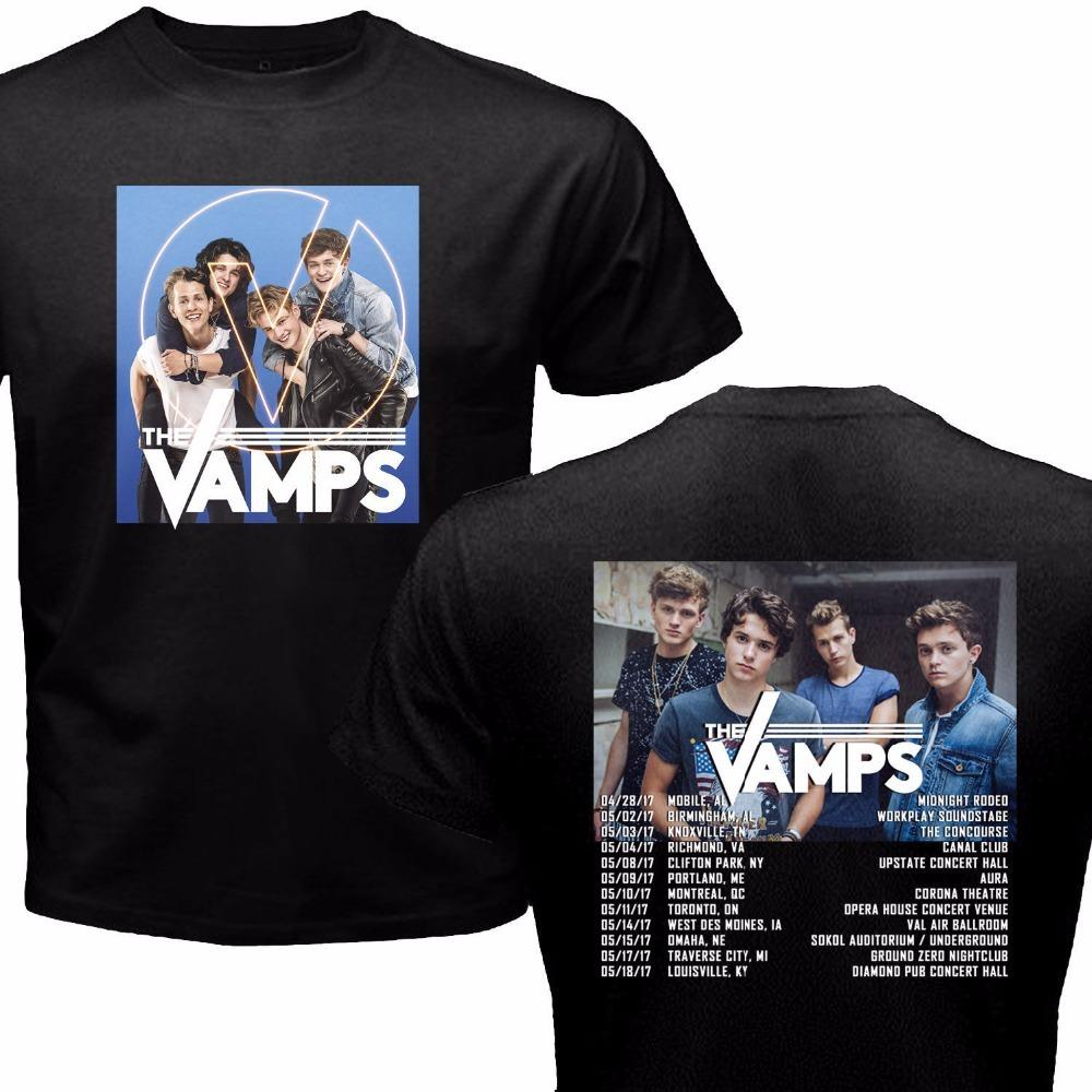 Custom Printed Shirts Crew Neck New Style Short Sleeve The Vamps
