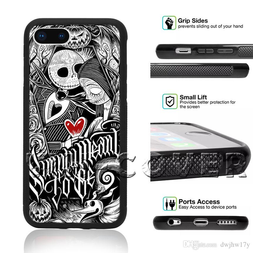 super popular 557ac bf790 Jack Skellington Starry Night R33 All Saints Day Pumpkin King Halloween  Town For Phone Case iPhone iX i8 i8Plus i7 i7 i6 i6s SE T6 Cover