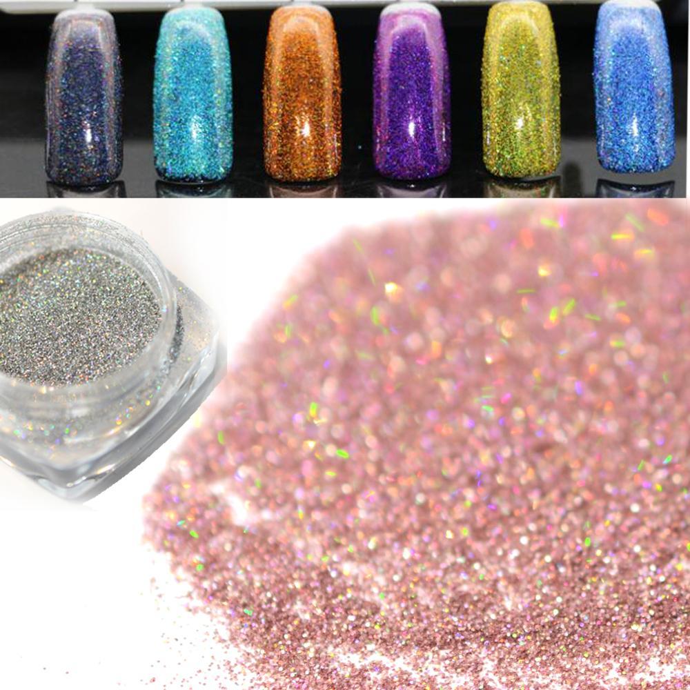 Schönheit & Gesundheit 1 Box Holographische Laser Pulver Nagel Glitter Wunderschöne Glitter Pulver 6 Farben Erhältlich