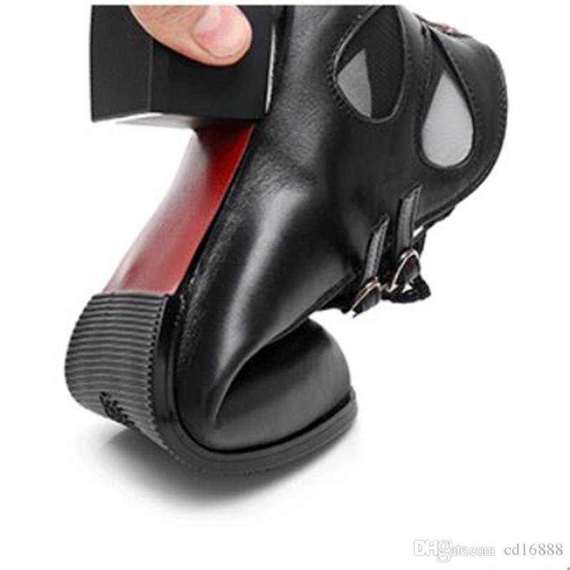 Hot 2018 New Lace Mesh Echtes Leder Schuhe Frau Stiefel Sommer Sandalen Dicken Absätzen Plus Größe Sommer Frauen Sandalen Sandalen Mode Schuhe