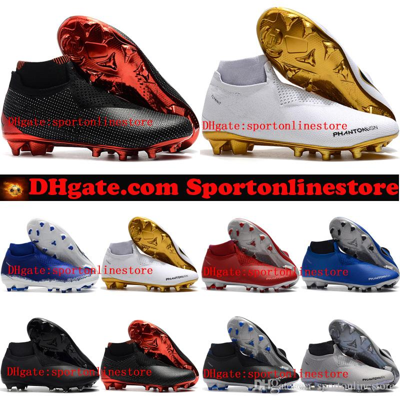 05393305b 2018 Mens Soccer Cleats Phantom Vision Elite DF FG Outdoor Soccer Shoes X  EA Sports Phantom Vision Football Boots Scarpe Calcio Hot Fashion Shoes  Winter ...
