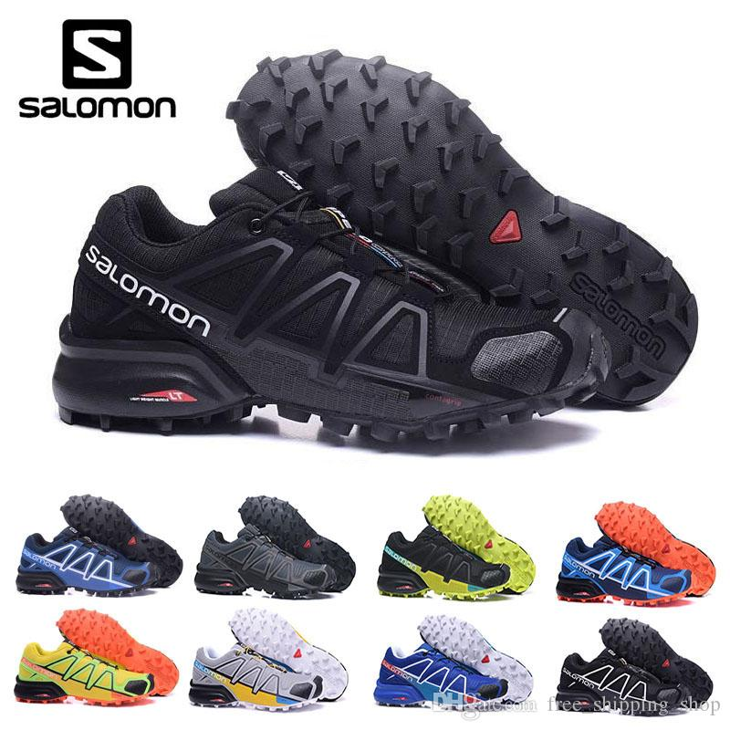 sports shoes a4a43 f43dc SALOMON New Color Speed Cross 4 Running Shoes For Men High Top Fashion  Black Cool Grey And Yellow Men Shoes EUR 40 46 Best Shoes For Running  Sports Shoes ...